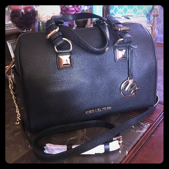 Michael Kors Handbags - Michael Kors Grayson chain satchel leather bag